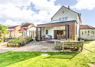 Bi-fold extension garden room