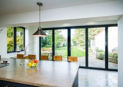 Bi-fold kitchen to pation