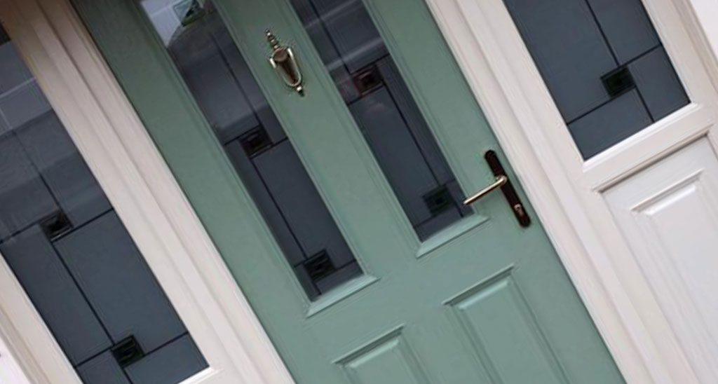 composite door green
