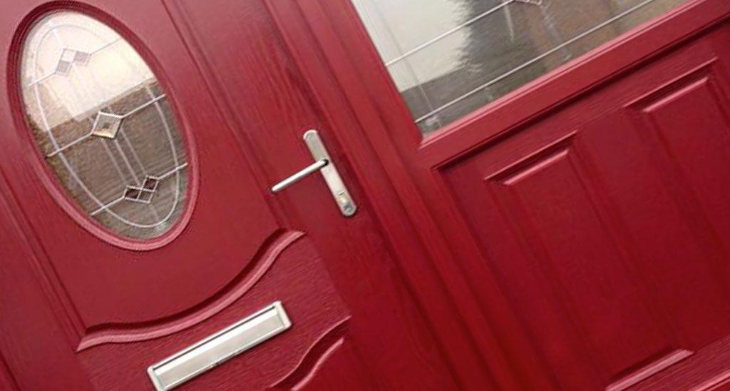 composite door red