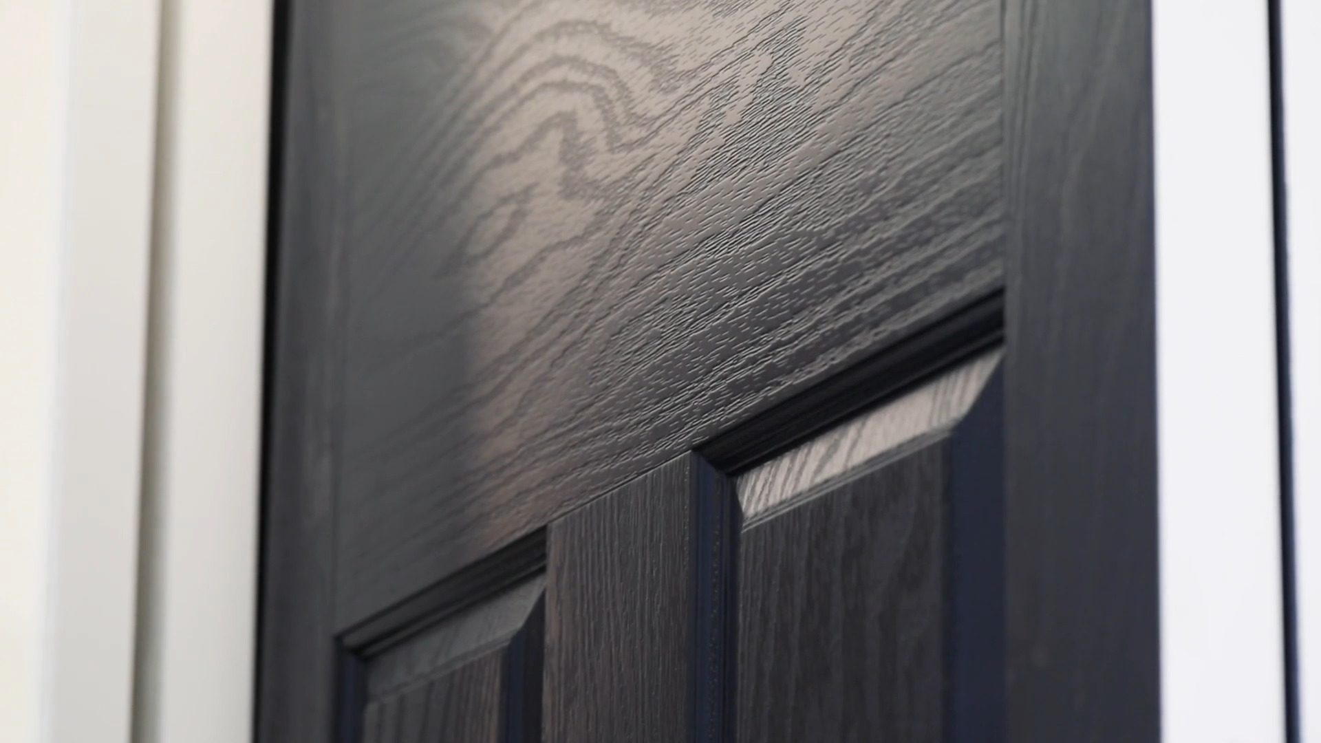 black door close-up shoot