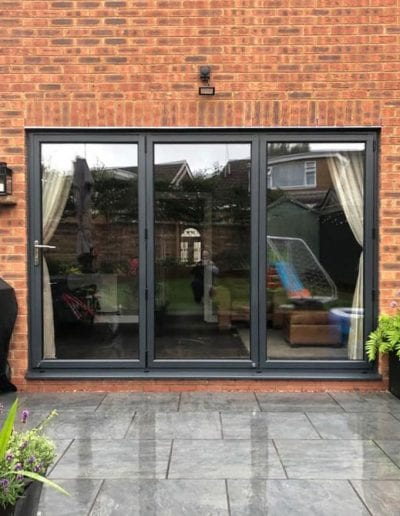 doors bi fold grey