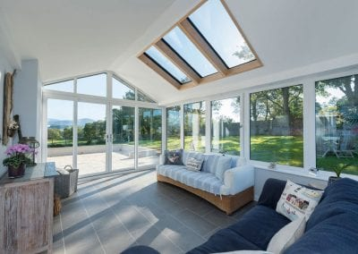 Warm roof Conservatory extension