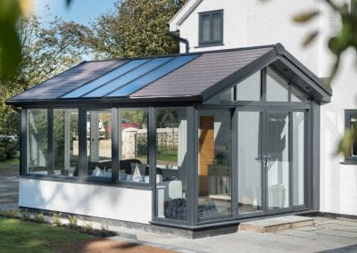 Warm roof Conservatory grey