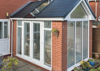 Warm roof Conservatory white