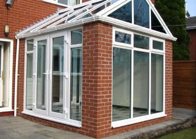 Warm roof Conservatory white decoration